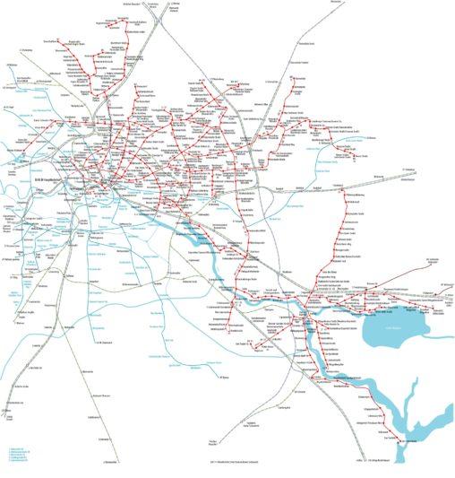 Схема трамваев в Берлине
