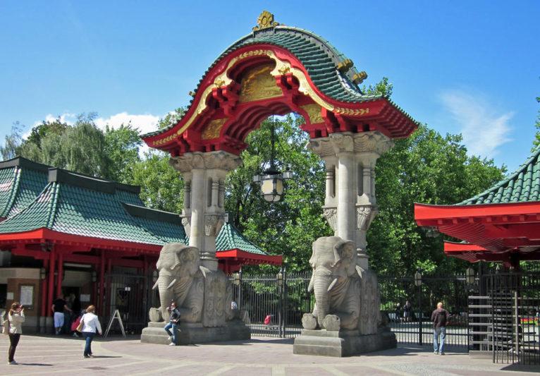 Слоновые ворота в зоопарке Берлина
