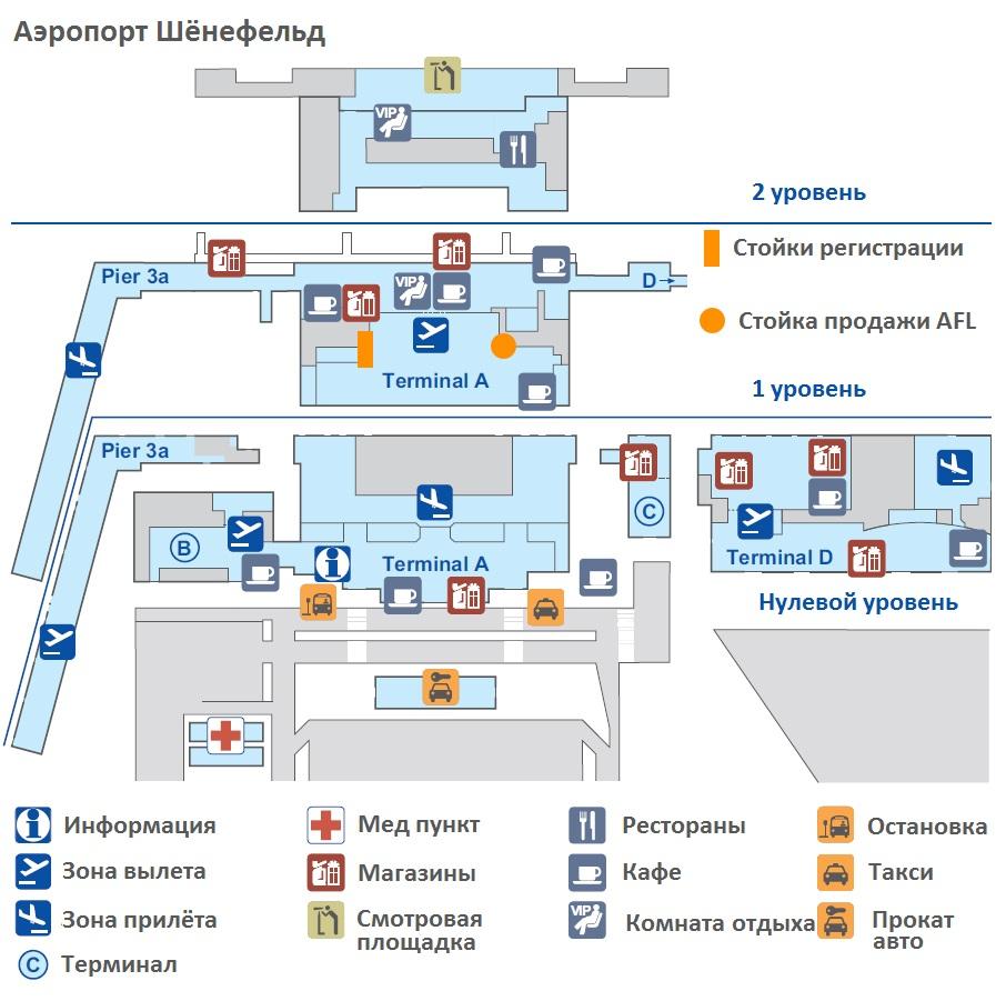 схема аэропорта Шёнефельд