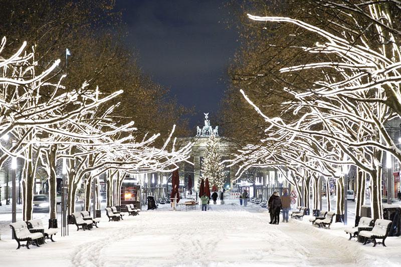 улицы Берлина зимой